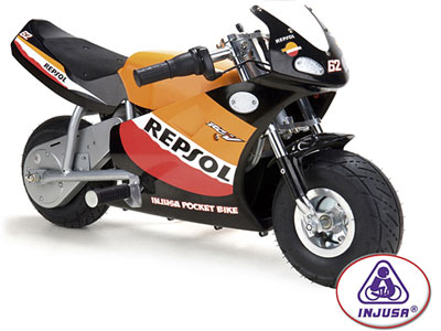 Injusa Repsol 24V Pocket Bike Motorcycle