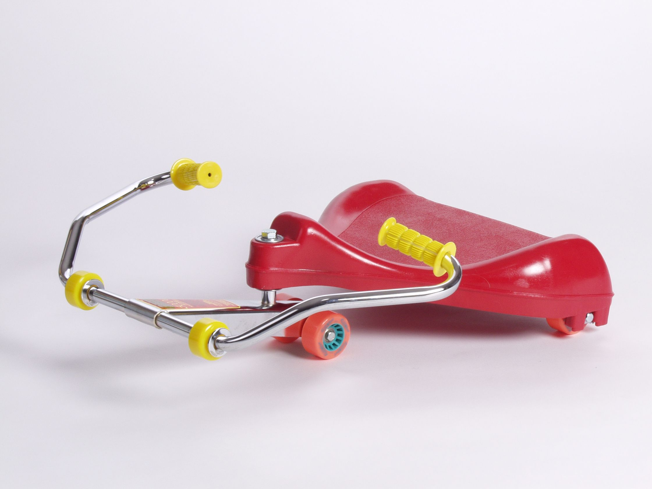 Red Roller Racer Amusement Model Scooter Riding Vehicle