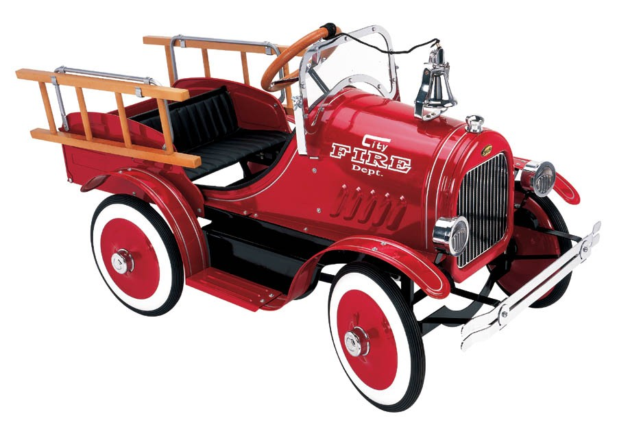 Antique Fire Truck Pedal Car
