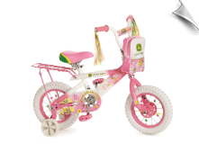 "John Deere 12"" Girl's Pink Bicycle - AVAIL. 12/19/12"