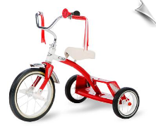 Red 12 Inch Classic Double Step Tricycle - OUT OF STOCK