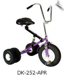 Purple Dirt King Adult Dually Tricycle