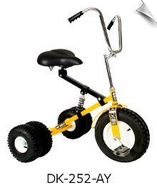 Yellow Dirt King Adult Dually Tricycle