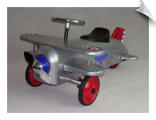 Silver Eagle Bi-Plane Scoot-Along - OUT OF STOCK