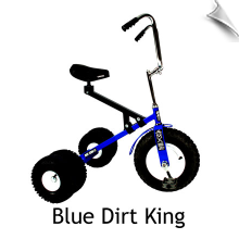 Blue Dirt King Big Kid Dually Tricycle