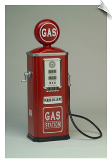 Red 2 1/2 Ft. Toy Gas Pump with Storage Shelves