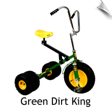 Green Dirt King Big Kid Dually Tricycle