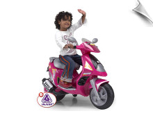Injusa Scooter Duo Pink 6V