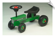 Pedal-Free Little Green Mini-Tractor (Scoot-Along)