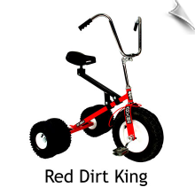 Red Dirt King Big Kid Dually Tricycle