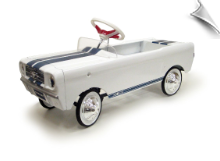1965 Shelby GT-350 Pedal Car - White with Blue ****DISCONTINUED****