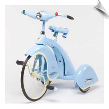 Blue 1936 Sky King Tricycle by Airflow - OUT OF STOCK UNTIL 2017