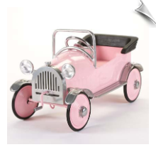 Pretty Pink Princess Pedal Car by Airflow - OUT OF STOCK