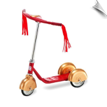 Red/Gold Retro Scooter