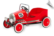 Red Classic Pedal Car
