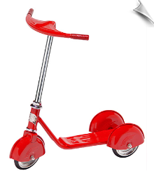 Red Retro Scooter