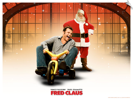 Big Wheel tricycle ride-on toy in Fred Clause movie starring Vince Vaughn