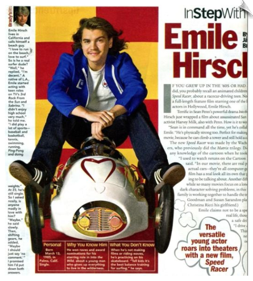 Speed Racer's Emile Hirsh on Mach 5 (Pedal Racer Ride-On Toy)