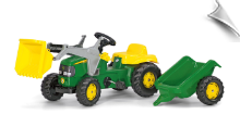 John Deere Kid Tractor with Trailer by Kettler