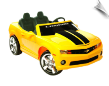 NPL Chevrolet Racing Camaro 12v Car - Yellow