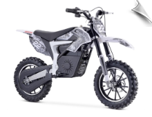 MotoTec 36v 500w Demon Electric Dirt Bike Lithium White