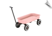 Pink Tot Doll Wagon