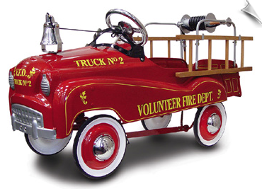 Pedal Cars & Trucks, Pedal Fire Trucks (Fire Engines), Convertibles