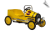 Yellow Retro Pedal Car