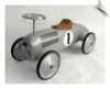 Silver Scoot-Along Race Car (Speedster Racer)