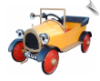 Yellow Brum Pedal Car by Airflow - OUT OF STOCK