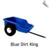Dirt King Tricycle Cart/Trailer (BLUE)