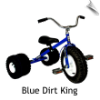 Blue Dirt King Dually Tricycle