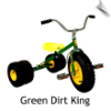 Green Dirt King Dually Tricycle