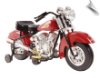 Kalee Warrior Indian Motorcycle 6v Red