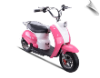 MotoTec 24v Electric Moped Pink
