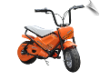 MotoTec 24v Electric Bike Orange