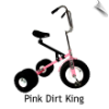 Pink Dirt King Big Kid Dually Tricycle