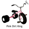 Pink Dirt King Dually Tricycle