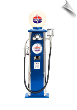 Blue Standard Oil Gas Pump