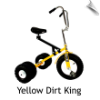 Yellow Dirt King Big Kid Dually Tricycle