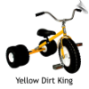 Yellow Dirt King Dually Tricycle