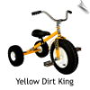 Yellow Dirt King Tricycle