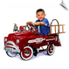 Sad Face Deluxe Fire Truck Pedal Car - OUT OF STOCK