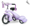 Lavender Retro Tricycle