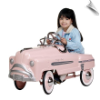 Sad Face Pretty In Pink Pedal Car Sedan - OUT OF STOCK