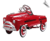 Sad Face Classic Red Pedal Car Sedan - OUT OF STOCK