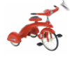 Jr. Sky King Trike (RED) - OUT OF STOCK UNTIL MAR 2016