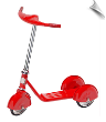 Red Retro Scooter (SKU: MO-RSCOOTER)