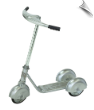 Morgan Retro 3-Wheel Scooter Silver (SKU: MO-31216)