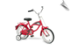"14"" Morgan Cruiser Bicycle Red"
